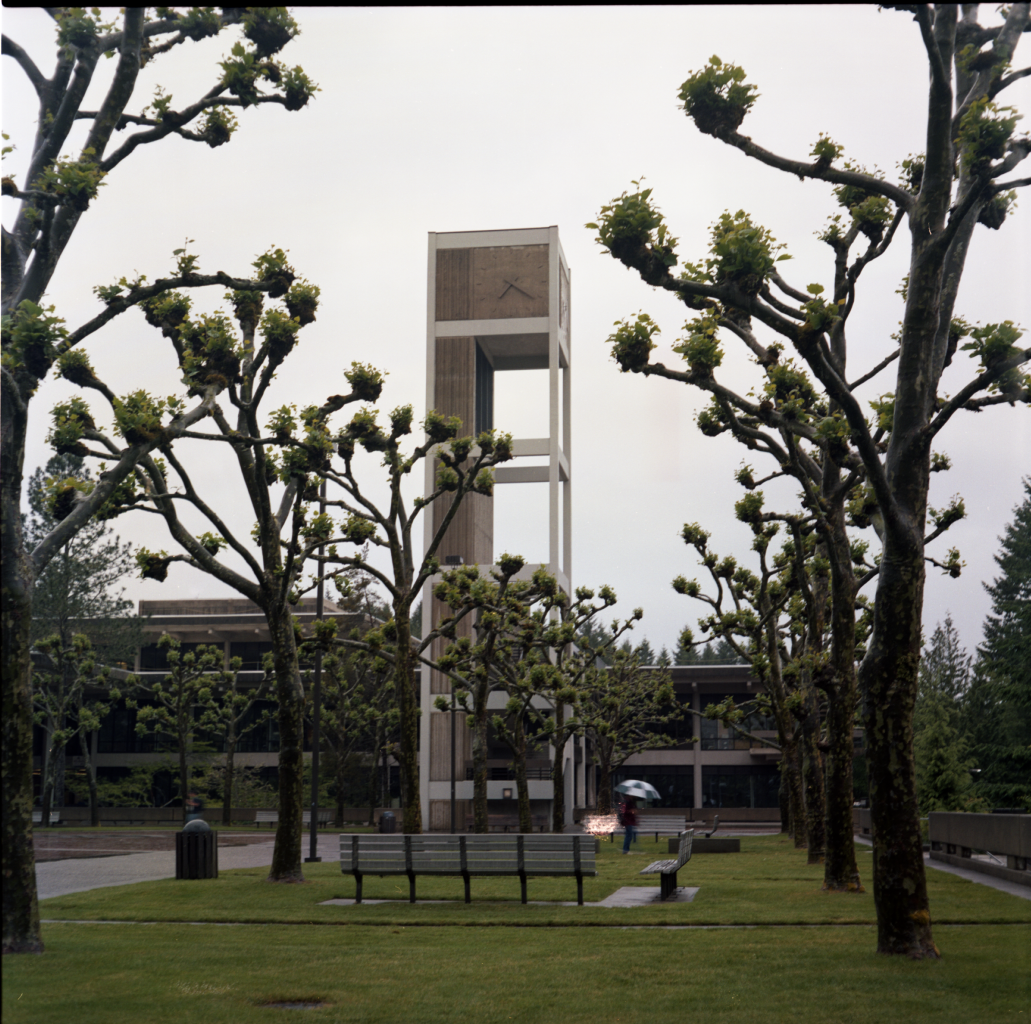 Clock tower at The Evergreen State College
